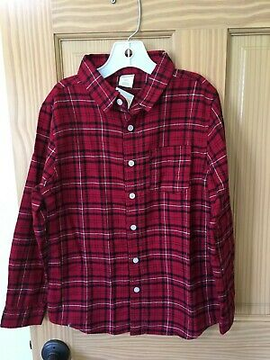 NWT Gymboree Holiday Shop Boys Plaid Red Long Sleeve Button Down Shirt Outlet