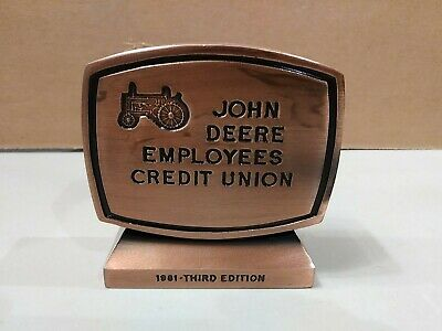 John Deere Employees Credit Union 3rd Edition 1981 Metal Coin Bank