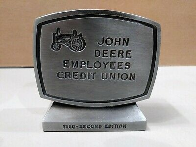 John Deere Employees Credit Union 2nd Edition 1980 Metal Coin Bank