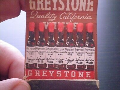 Vintage Greystone Wines Matchbook, California.