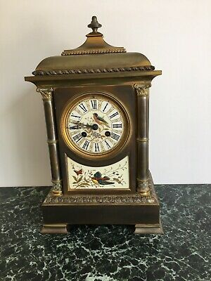 Brass French antique mantel carriage clocks