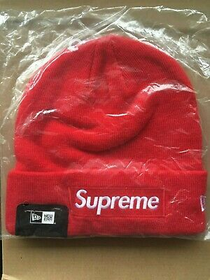 8bf5cd11f SUPREME NEW ERA Script Beanie Navy FW18 Small Box Logo Bogo - $50.00 ...