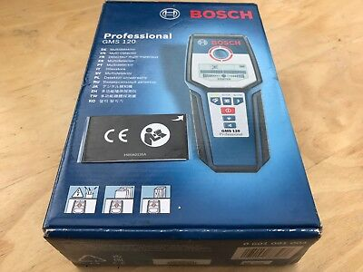 New Bosch GMS 120 GMS120 DGTL Wall Multi Scanner, Blue 0601081004