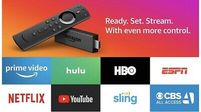 Amazon Fire TV Stick 2019 All-New Alexa Voice Remote with TV Control New Sealed
