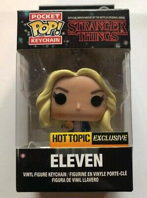Eleven Funko Pocket POP Keychain STRANGER THINGS Hot Topic Exclusive *NEW*
