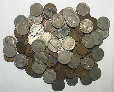 Estate Lot ***136 Old U.s. Coins Plus Type 1 Buff***L@@K At Pictures!!!!! #3481B
