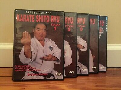 MASTERCLASS KARATE SHITO RYU TRAINING SERIES (5) DVD Set self defense striking
