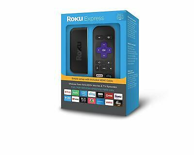 Roku Express High Definition with 1080p Resolution, HDMI, Audio and Power Cords