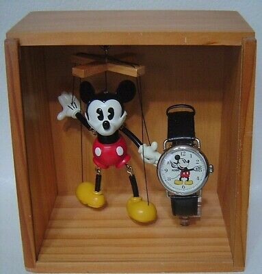 FOSSIL 1997 limited year Manipulation Mickey Mouse Unused item wirst Watch 89