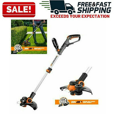 Electric Cordless String Trimmer Weed Eater Lawn Wacker Outdoor Edger Grass Yard