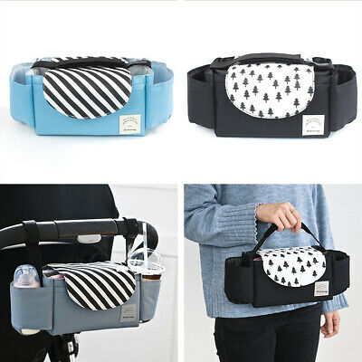 Oxford Fabric Baby Stroller Storage Bag Buggy Pushchair Cup Diaper Hanging Hot