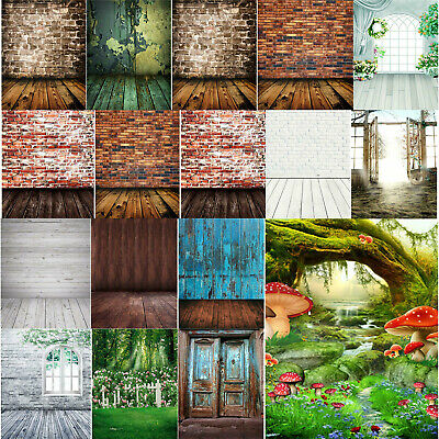 Video Photo Backdrops Vinyl Wooden Floor Photography Background Studio DIY  #3YE