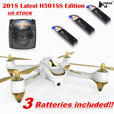 Hubsan H501S S Drone 5.8G Brushless RC Quadcopter with 1080P HD Camera GPS RTF