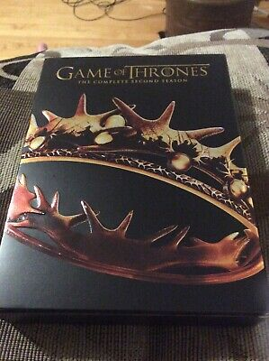 Game of Thrones: The Complete Second Season (DVD, 2013, 5-Disc Set)w/ Slipcover