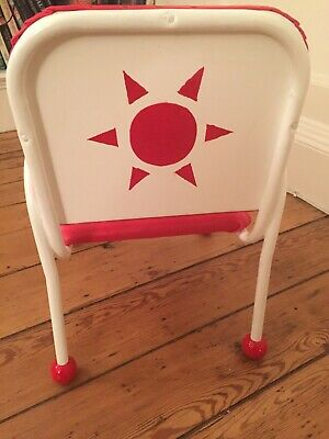 Unique Vintage Children's Chair professionally restored- metal and faux leather