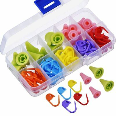 60 Pieces Knitting Crochet Locking Stitch Markers Mix Color and 20 Pieces 2 S2M8