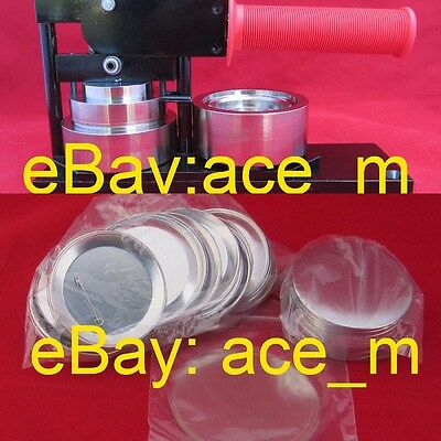 "2-1/4"" inch Tecre Button Maker Machine plus Rotary Cutter and 20 Button Parts"