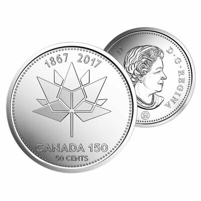 1867-2017 CANADA 150th Anniversary Half Dollar 50 Cent Coin from MintRoll UNC