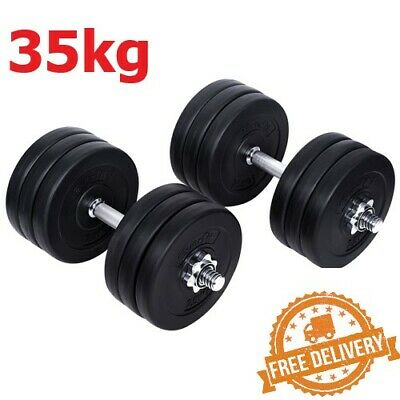 Everfit Fitness Gym Exercise 35kg Dumbbell Set - Non Slip Handle - Dumb Bell NEW