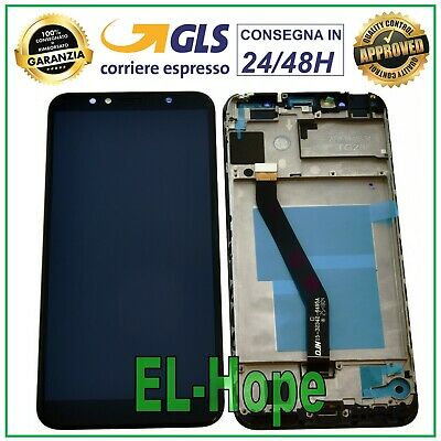 Display Lcd Frame Huawei Honor 7A Aum-L29 Aum-L41 Touch Screen Vetro Nero