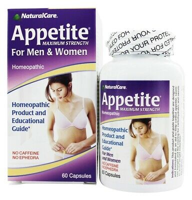 NaturalCare - Appetite Suppressant Homeopathic For Men and Women - 60 Capsules