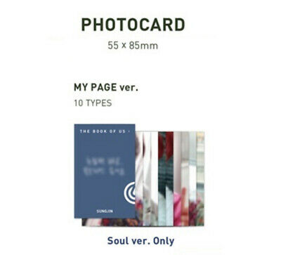 Day6 - 5Th Mini Album The Book Of Us : Gravity Photo Card My Page Ver. Wonpil