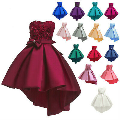 Party Wedding Flower Girl Dress Princess Bridesmaid Kid Formal Gown Long Dresses