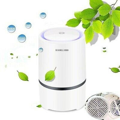 RIGOGLIOSO Air Purifier Air Cleaner for home with True HEPA & Active Filter