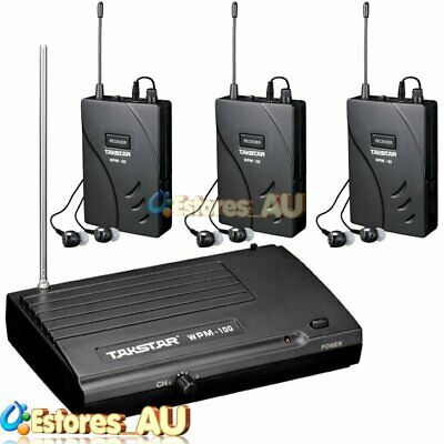 【AU】TAKSTAR WPM-100 UHF 50m Wireless Monitor System Transmitter + 3x Receivers