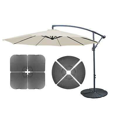 4 Pack Outdoor Umbrella Cantilever Parasol Base Stand Sand Water Filled Weight