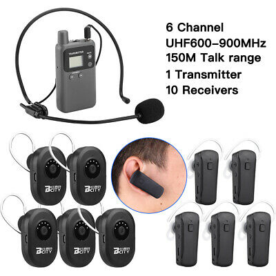 Transmitter + 10* Receiver Wireless Simultaneous Interpretation System Meeting