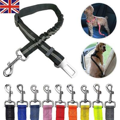 Anti Shock Pet Dog Puppy Car Seat Belt Clip Bungee Lead Travel Safety Harness