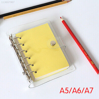 99E7 PVC Ring Binder Cover School Supplies Traveler Writing Book