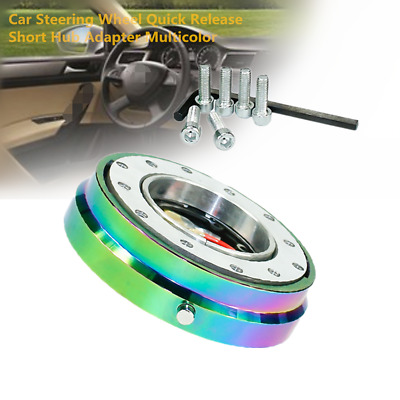50mm Dia Aluminum Car Steering Wheel Quick Release Short Hub Adapter Multicolor