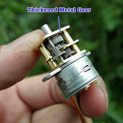 Mini Full Metal Gearbox Gear Stepper Motor DC5V 2-Phase 4-Wire D-shaft DIY Robot
