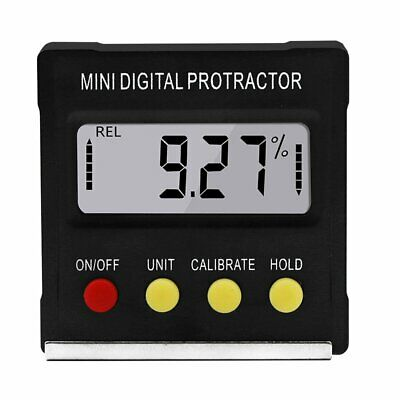 Mini Electronic Digital Inclinometer Slope Level Protractor Magnetic Angle#M