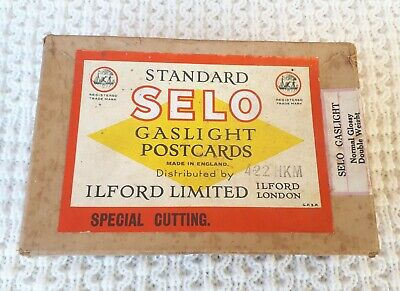 Vintage Ilford Selo Gaslight Postcards / Box with Contents – Camera, Collectable