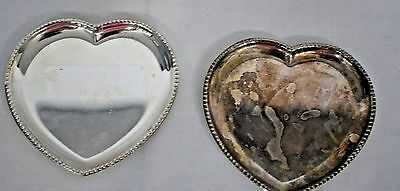 Vintage Unique Pair of Heart Shaped Christian Dior Small Nuts /Jewelry Tray