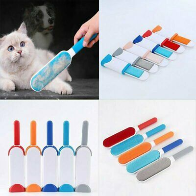 Pet Fur Hair Lint Remover Wizard Brush Travel Size Clear Clothes Fabric Brush UK