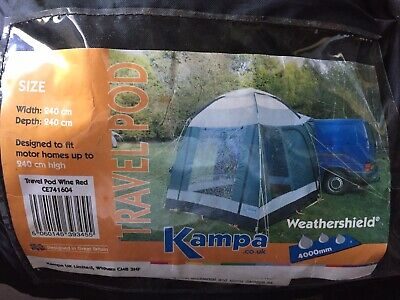 Kampa Travel Pod In Wine Red, drive away awning for camper van motor home