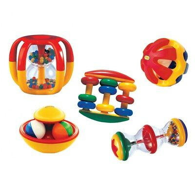Tolo Baby Shake Rattle /& Roll Baby Toy Multi Color RollerRattler NEW in Gift Box