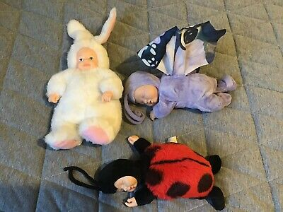 anne geddes dolls Butterfly,ladybug,rabbit