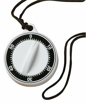 Norpro 60-Minute Plastic Timer With Rope & Magnet On Back, Long Loud Ringer 1489
