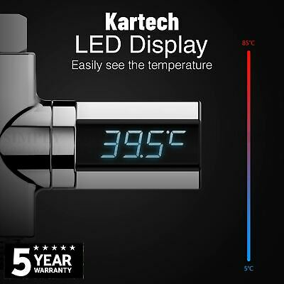 Kartech Shower Thermometer Digital Water Temperature Monitor Waterproof Baby LED