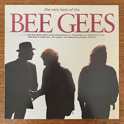 STUNNING Bee Gees THE VERY BEST OF NEAR MINT VINYL 1990 UK LP Record