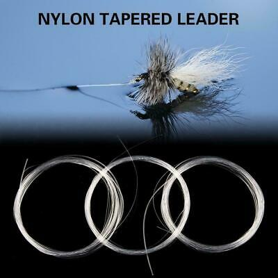 1pc Fly Fishing Fluorocarbon Tapered Leader 9FT 0/1/2/3/4/5/6/7X Lin K7W1 L N0P2