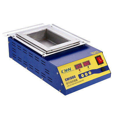 900W Digital Preheat Soldering Pot / Preheat Station Square Tin Pot 15*10cm 110V