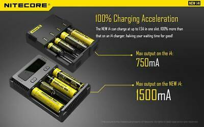 Nitecore i4 Intelligent Multi Battery Charger for 26650 18650 16340 14500 AA AAA
