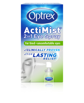 Optrex Actimist 2in1 Eye Spray 10ml For Tired + Uncomfortable Eyes