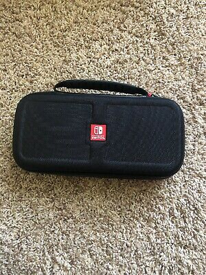 RDS Officially Licensed By Nintendo Switch Black / Red Game Console Travel Case